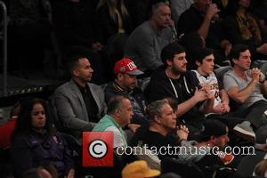 Jimmy Kimmel seen on Sunday November 20, 2016 at the Lakers game. The Chicago Bulls defeated the Los Angeles Lakers...
