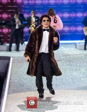 Bruno Mars at the 2016 Victoria's Secret Fashion Show held at Grand Palais, Paris, France - Wednesday 30th November 2016