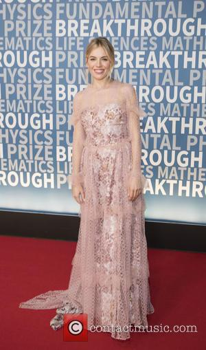 Sienna Miller seen on the Red Carpet for the 2017 Breakthrough Prize awards held at NASA Ames Research Center in...