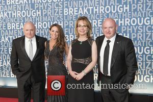 Gabrielle Giffords, Scott Kelly, Amiko Kauderer and Mark Kelly