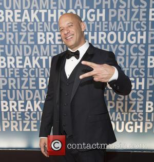 Vin Diesel seen on the Red Carpet for the 2017 Breakthrough Prize awards held at NASA Ames Research Center in...