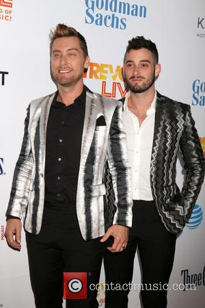 Lance Bass and Michael Turchin attending the Trevor Project's 2016 TrevorLIVE LA held at The Beverly Hilton Hotel  -...