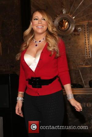 Music icon Mariah Carey Flips the Switch at the Empire State Building's Symbolic Lighting Ceremony to kick off the Holiday...