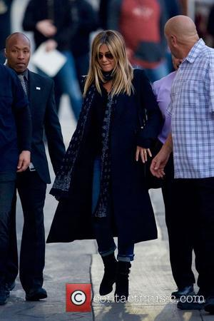 Jennifer Aniston seen arriving at the ABC studios to record an episode of Jimmy Kimmel Live, Jennifer is promoting her...