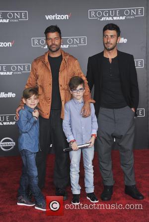 Ricky Martin, Matteo Martin, Valentino Martin and Jwan Yosef