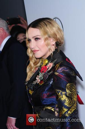 Madonna seen on the red carpet at the 2016 Billboard Women In Music event held at Pier 36, New York,...