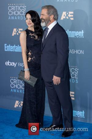 Mel Gibson seen alone and with Rosalind Ross at the 22nd Annual Critics' Choice Awards held at Barker Hangar, Critics'...