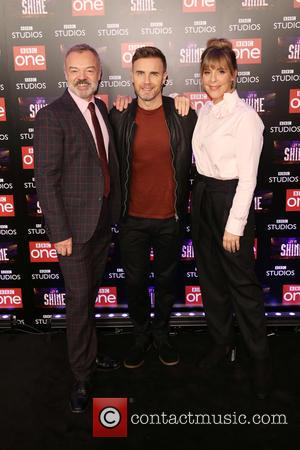 Graham Norton, Gary Barlow and Mel Giedroyc