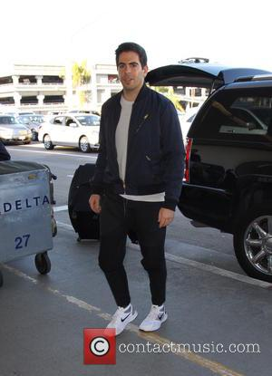Eli Roth and his wife Lorenza Izzo arrive at L.A. International Airport - Los Angeles, California, United States - Monday...