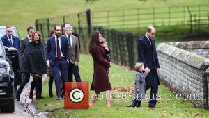 The Duke and Duchess of Cambridge arrive at St Marks Englefield with Prince George and Princess Charlotte. The family were...