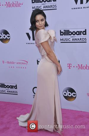 Vanessa Hudgens on the red carpet at the 2017 Billboard Music Awards held at T-Mobile Arena. Drake walked away as...