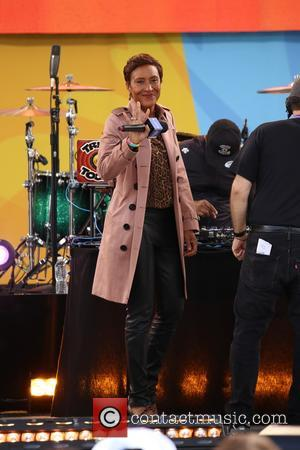 Robin Roberts seen on stage before Florida Georgia Line, (Tyler Hubbard and Brian Kelley) perform with Nelly on ABC's 'Good...