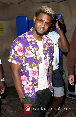Usher celebrates Memorial Day Weekend at Rehab Beach Club inside the Hard Rock Hotel & Casino - Las Vegas, Nevada,...