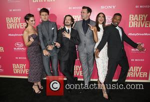 Lily James, Ansel Elgort, Edgar Wright, Jon Hamm, Eiza Gonzalez and Jaime Foxx