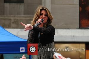 Shania Twain at Manhattan and Rockefeller Plaza