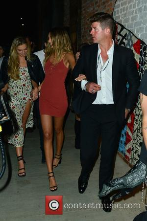 Robin Thicke And April Love Geary Out For Dinner At Tao Retaurant - Hollywood, California, United States - Wednesday 21st...