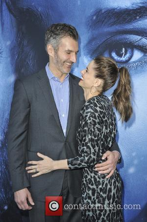 David Benioff and Amanda Peet