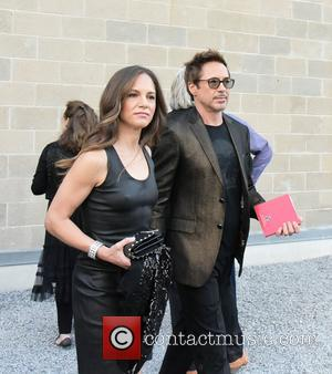 Susan Levin and Robert Downey Jr. at Watermill Center