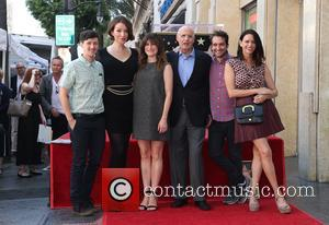 Rhys Ernst, Our Lady J, Kathryn Hahn, Jeffrey Tambor, Jay Duplass and Amy Landecker seen at Jeffrey Tambor's  Star...