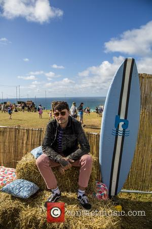 Frontman of Lower Than Atlantis Mike Duce soaks up the sun at the 2017 Boardmasters festival - Watergate Bay, Cornwall,...