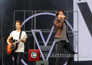 the vamps perform on the first day of V Festival at Hylands Park - Chelmsford, Essex, United Kingdom - Saturday...