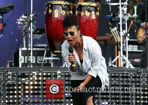 Emeli Sande - Emeli Sande performing on the main stage during Day Two of V Festival at Hylands Park at...