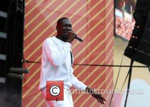 Grime artist Stormzy performing on the main stage during the second day of V Festival - Hylands Park, Chelmsford, Essex,...