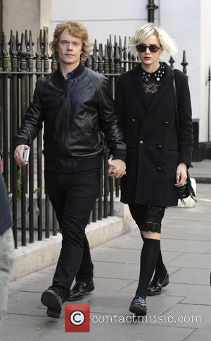 Alfie Allen seen attending the funeral of Bernie Katz, aka the 'Prince of Soho, former manager of the famous Groucho...