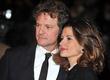 Colin Firth and Livia Giuggioli