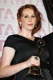 Catherine Tate and Collecting The Award For David Tennant