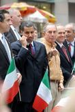 Andrew Cuomo, Governor of New York, David Paterson, Mayor of New York City and Michael Bloomberg