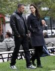 Ben Affleck and Rebecca Hall On The Set Of 'the Town' Filming In Copley Square
