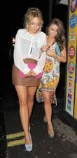 Sacha Parkinson, Brooke Vincent and Cafe De Paris