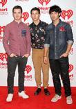 L-r, Kevin Jonas, Nick Jonas, Joe Jonas and The Jonas Brothers