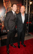 Jai Courtney and Bruce Willis