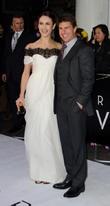 Olga Kurylenko and Tom Cruise