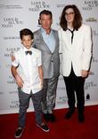 Paris Brosnan, Pierce Brosnan and Dylan Brosnan