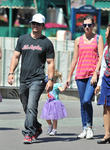 Mark Wahlberg, Rhea Durham and Grace Margaret Wahlberg