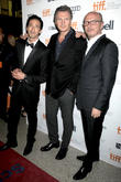 Adrien Brody, Liam Neeson and Paul Haggis