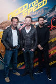Director Scott Waugh, Aaron Paul and Dominic Cooper