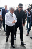 Jude Law and Bernie Ecclestone