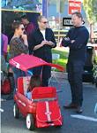 Ian Ziering, Jon Cryer and Lisa Joyner