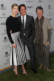 Rosamund Pike, Rob Marshall and Helen Du Toit