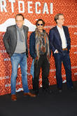 Paul Bettany, Johnny Depp and David Koepp