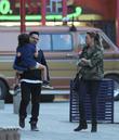 Michael Peña, Roman Peña and Brie Shaffer