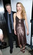Amber Heard and Christopher Walken