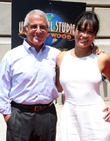 Ron Meyer and Michelle Rodriguez