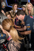 Romeo Beckham, Christian Horner, Emma Bunton, Melanie Chisholm and Louise Adams