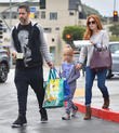 Amy Adams, Aviana Le Gallo and Darren Le Gallo