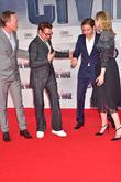 Paul Bettany, Robert Downey Jr., Emily Van Camp and Daniel Bruehl